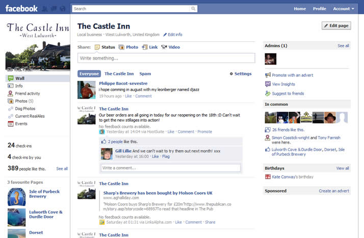 The Castle Inn's Facebook Page